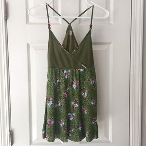 Free People Babydoll Tank with Floral and Dots